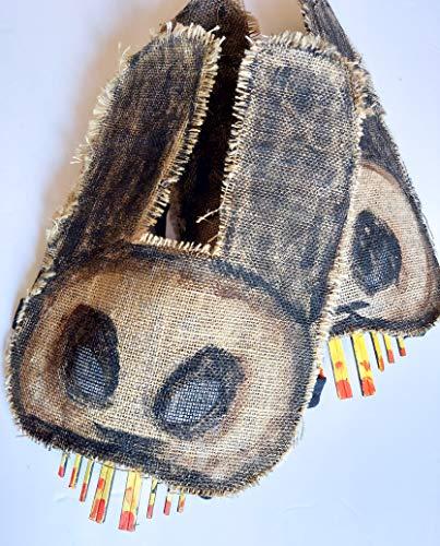 Creepy Bunny Mask - Scary Burlap Rabbit Mask - Halloween Horror Prop - Masquerade Disguise - Party Animals Masks