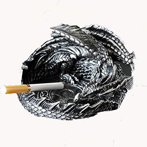 Hogar Ceniceros para Puros en forma de dragón de estilo europeo de estilo europeo Cenicero de la personalidad creativa de tendencia multifuncional muchacho de la manera del regalo de cumpleaños Cenice