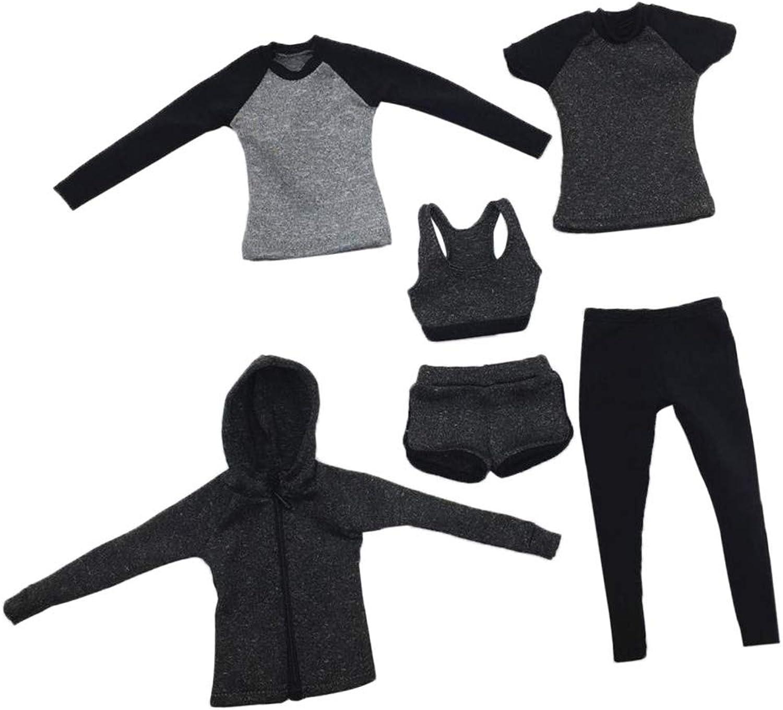 SM SunniMix 1 6 Woman Running Clothing Sportswear for 12 INCH Phicen Kumik Hot Toys Figure