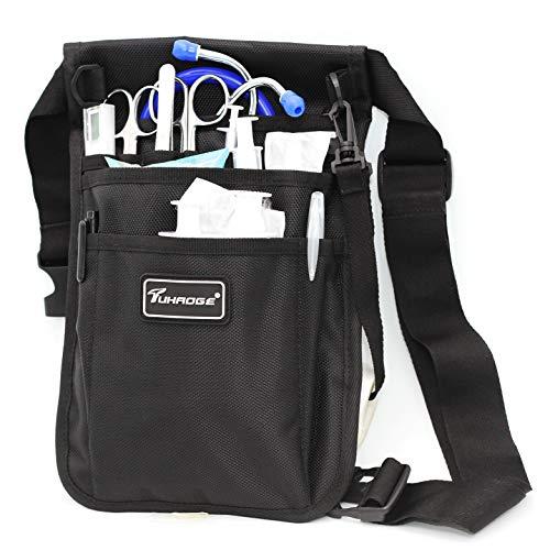 Nurse Storage Bag Practical Waist Bag Nurse Pocket Bag belt organizer pouch. (Black)