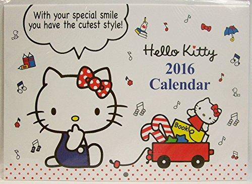 ハローキティ 2016 A3 壁掛けカレンダー (ホワイト)