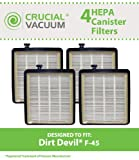 4 Replacement for Dirt Devil Style F45 HEPA Style Filter Fits EZ Lite