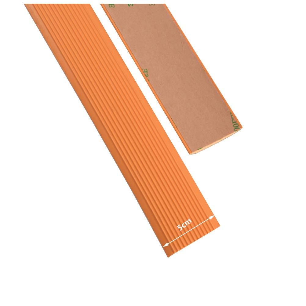 Tira Antideslizante de Escaleras 5cm, Tira Autoadhesiva Tira Anticolisión Interior y Exterior, Apta para Todo Tipo de Terreno (Color : Orange, Size : 30M): Amazon.es: Hogar