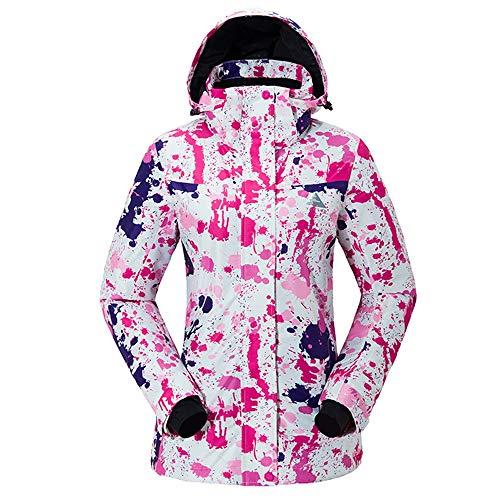 HoGau verstelbare fit jas comfortabele ski-jas hoge winddichte techniek professionele snowboard pakken roze