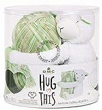 DMC Hug This Knitting & Crochet Yarn Kit with Lamb Toy