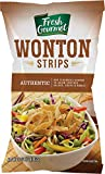 Fresh Gourmet Authentic Wonton Strips | 1 Pound | Low Carb | Crunchy Snack and Salad Topper
