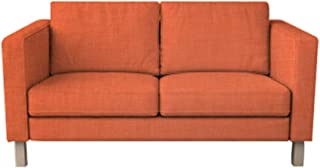 MastersofCovers 7 Colors Polyester Karlstad 3 Seat Sofa Cover for The IKEA Karlstad 3 Seater Sofa Slipcover Replacement (Orange)