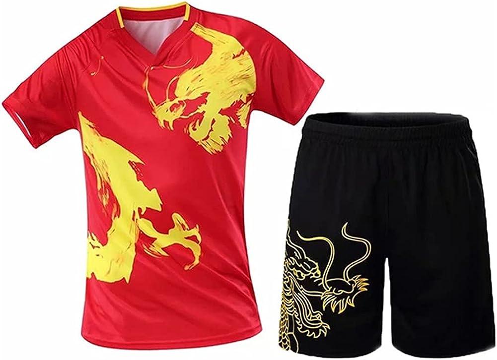 Xhwyf Camiseta de tenis para mujer y hombre, bádminton, ropa de tenis de mesa, pantalones cortos para tenis de mesa, deportes y ocio