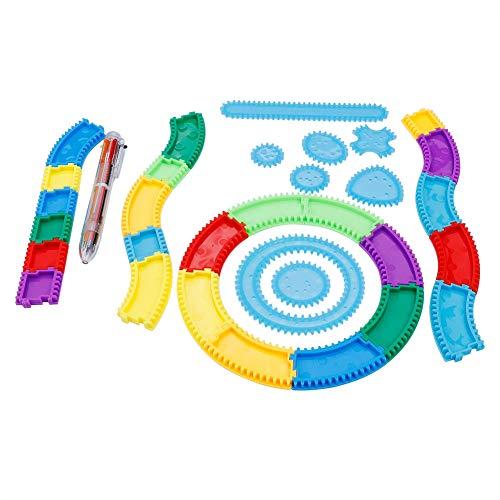 Garosa Spiral Drawing Lineal Railway Magie Zeichnung Kreative Geometrie Muster Pädagogisches Spielzeug Geschenk für Kinder