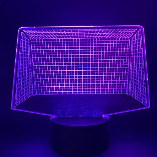 HXFGL Luces de Noche 3D de Fútbol Red de Modelado de 7 Colores Luz de la Noche LED Lámpara de Mesa de la Sala de la Decoración Exquisito Regalo