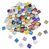 330 Piezas Azulejos De Mosaico De Colores Mezclados Piedras De Mosaico De Vidrio Mosaico De Cristal Brillante DecoracióN Teselas Para Mosaicos Ideal Para Trabajos De Mosaico Bricolaje 10 Mm