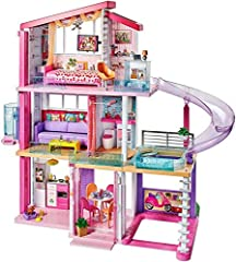 Measuring an impressive 3 feet tall and 4 feet wide and featuring 3 stories, 8 rooms, all-angle play, a working elevator and pool with slide, the Barbie Dreamhouse encourages young imaginations to move into this dollhouse and set up a dream home! D...