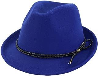 XinLin Du Fashion Women Men Fedora Hat Lady Winter Fascinator Hat Church Jazz Hat Size 56-58CM