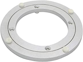 Dailydanny Aluminum Heavy Duty Lazy Susan Rotating Turntable Bearing Swivel Plate Hardware for Dining-Table (8 inch)
