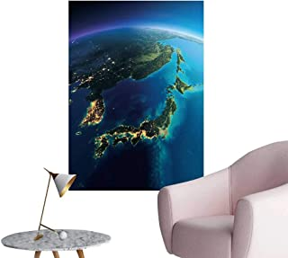 SeptSonne Vinyl Wall Stickers Highly detaile t Earth Night Glow City Lights Perfectly Decorated,20