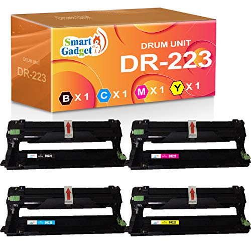(1-Set, Drum, B/C/M/Y) Smart Gadget Compatible Drum Unit Replacement for Brother DR-223 DR223CL DR223 Used for TN-223 TN-227 MFC-L3770CDW HL-L3210CW MFC-L3710CW MFC-L3750CDW HL-L3230CDN Printer