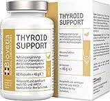 Biovetia Schilddrüse Support, mit Jod + Selen und L-Thyrosin zur Unterstützung der...
