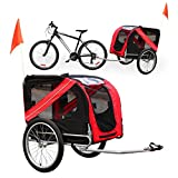 WilTec Dog Pet Bike Trailer Pushchair Carrier Water Dirt Resistant Hitch Second Bike