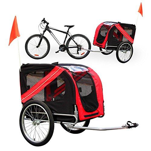 WilTec Remolque Bicicleta Perros Transportín Accesorios Bici Mascotas Viaje Outdoor Animales Tiempo Libre