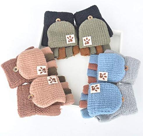 6 Pcs 1-4 Ans Petites Filles Doux Tricot Mitaine B/éb/é Gar/çons Dhiver Gants Tricot/és YUESEN Bambin Gants Chauds Gants de Doigts Extensibles