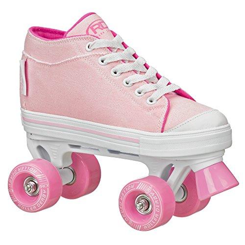 Zinger Girl's Roller Skate (Pink/White, 6)