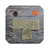 sunnyday-shop 1 par de calcetines largos de lana para botas de ganchillo, 6 colores Verde caqui Talla única