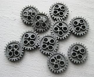 LEGO Technic NEW 10 pcs DARK BLUISH GREY GEAR 24 TOOTH TEETH (New Style with Single Axle Hole) Mindstorms NXT EV3 robot robotics motor building small Part Piece 3648