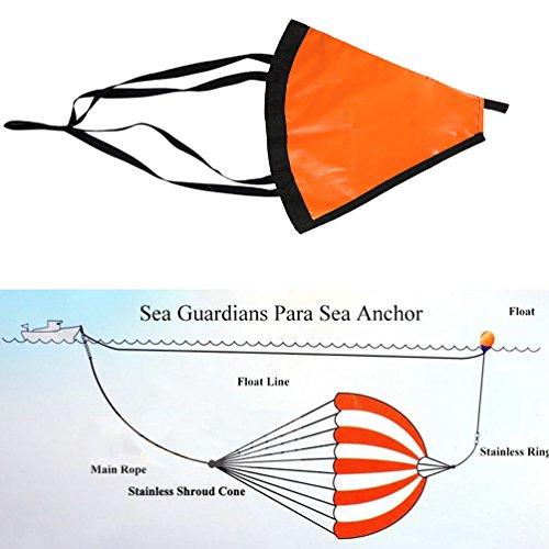 Orange 32-Inch Drift Sock Sea Anchor