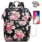 Laptop Backpack,15.6 Inch Stylish College School Backpack with USB Charging Port,Water Resistant...