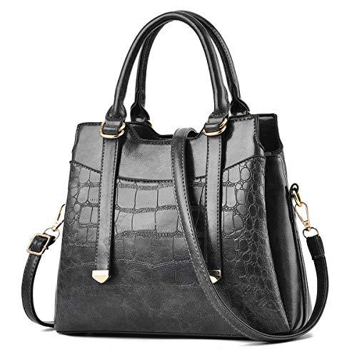 I IHAYNER Damen Handtasche PU Ledertasche Schultertasche Designer Umhängetaschen Handtaschen mit Tragegriff Hobo Tasche mit langem Tragegurt für Frauen
