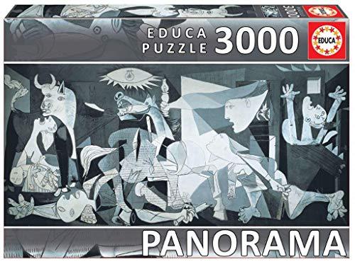 Educa- Animated And Comic Drawings Guernica, Pablo Picasso. Puzzle Panoramico di 3000 Pezzi. RIF. 11502, Colore Bianco e Nero, EB11502