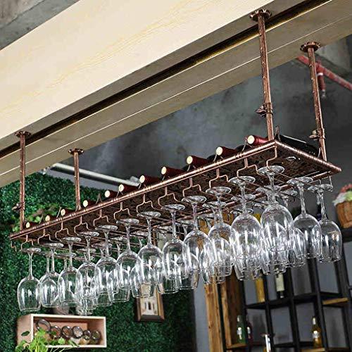 Weinregale, Weinregal Weinglas Aufhänger Jahrgang, Metall, Eisen Deckenhängeweinflaschenhalter Goblet Stemware Racks Weinglas Rack-Höhenverstellbarer Ständer, 150cm (59.1in), 150cm (59.1in) WTZ012