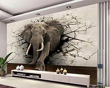 Yosot 9D Tapete Elefanten Wandbild Tv Wand Hintergrund Wand Wohnzimmer  Schlafzimmer Tv Hintergrund Wandbild Tapeten Für Wände 9D -950Cmx9Cm