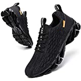SKDOIUL Mens Walking Sneakers mesh Breathable Comfort Fashion Sport Athletic Running Shoes Man Runner Jogging Shoes Casual Tennis Trainers All Black 10