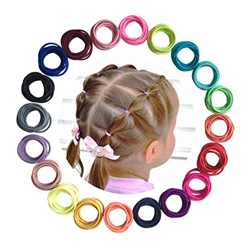 Baby Hair Ties 200Pcs Small Elastic Toddler Hair Ties Ponytail Holders Hair Ties for Baby Girls Infants Kids Hair Accessories (Color A)