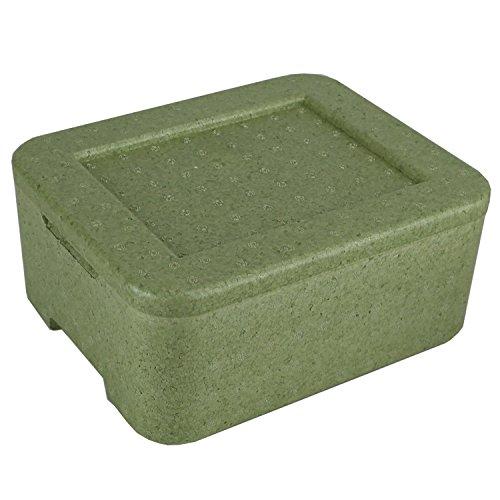 W2 Thermobox Styropor grün Transportbehälter MENÜBOX für 2 Menü