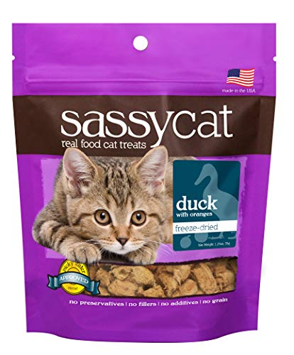 Herbsmith Sassy Cat Treats - Freeze Dried Duck Treats - All Natural Treats for Cats - Limited Ingredient Cat Treat...