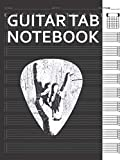 Guitar Tab Notebook: Hand Horns Punk Rock Guitar Pick Bass Drum Distressed Guitarist Player Blank Acoustic Guitars Tablature Writing Paper with Chord ... Guitarist Manuscript Tabs Book Journal.