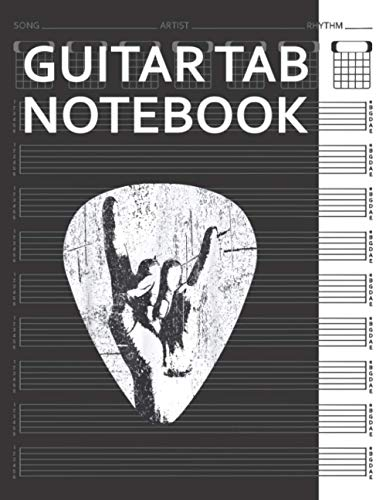 Guitar Tab Notebook: Hand Horns Punk Rock Guitar Pick Bass Drum Distressed Guitarist Player Blank Acoustic Guitars Tablature Writing Paper with Chord ... Guitarist Manuscript Tabs Book Journal.