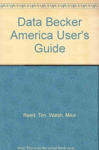 Data Becker America User's Guide
