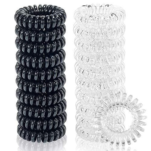 20 Pcs Spiral Hair Ties, TailaiMei No Crease Coil Hair Ties, Phone...