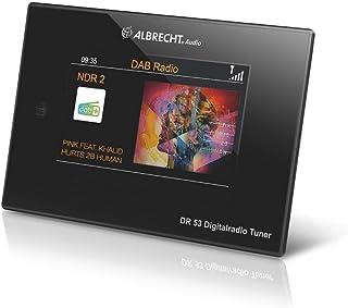 Albrecht DR53, DAB+/UKW Digitalradio Tuner, 27251, mit 4'' Farbdisplay zum Anschluss an die Stereoanlage inkl. Fernbedienung