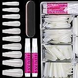 False Nails Long Coffin Nails - Natural Acrylic Nails Coffin Shaped Ballerina Nails Tips E...