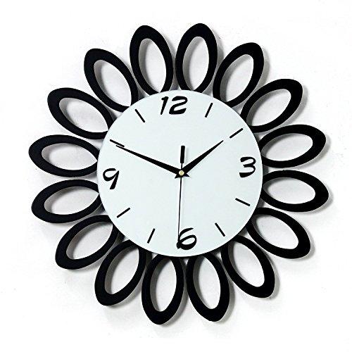 DFFV-Horloge murale quartz en bois muet créative (sans batterie) 40 * 40 (cm)Cadeau de cadeau de Noël de vacances d'ami cadeau