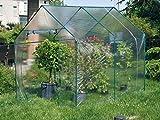 rama serra da giardino in acciaio con telo narciso verde
