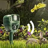 Generic Ultrasonic Animal Repeller Dog Cat Insect Flash Light Repellent Outdoor Garden Expeller