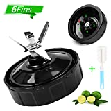 6 Fins Replacement Blade Parts For Nutri Ninja Blender,Extractor Bottom Blade Replacement for Auto iQ BL481-70 BL482-70 BL483-70 BL450-70 BL451-70 BL454-70,Only fit for18oz 24 oz.32 oz Cups (1PCS)