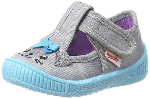 Superfit Mädchen Bully Schuhe Hohe Hausschuhe, Grau (Smoke Kombi), 21 EU