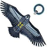 XIAOKEKE Cometa Infantil Águila Juguete Cometas para Adultos Grandes Águila Cometas Volando Fácil Control Familiar Viajes Al Aire Libre Diversión Deporte Niños 1.8M