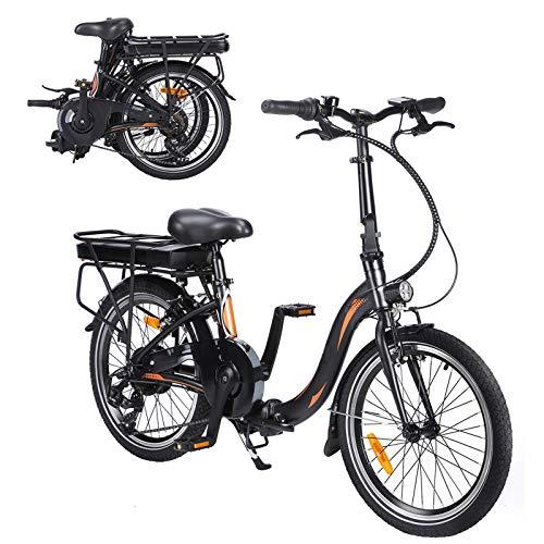 CM67-F054 Elektro Faltfahrrad 20 Zoll Klappfahrrad E-Bike Aus Alu Quick-Fold-System 7 Gang Faltbares Fahrrad Elektro Faltrad Klapprad Elektro Mit LED-Licht Ebike Damen Herren Load Capacity 120KG